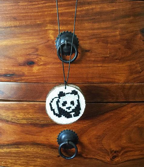 Panda Cross Stitch   Pendant