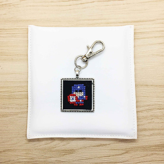 Captain America Cross Stitch | Keyring