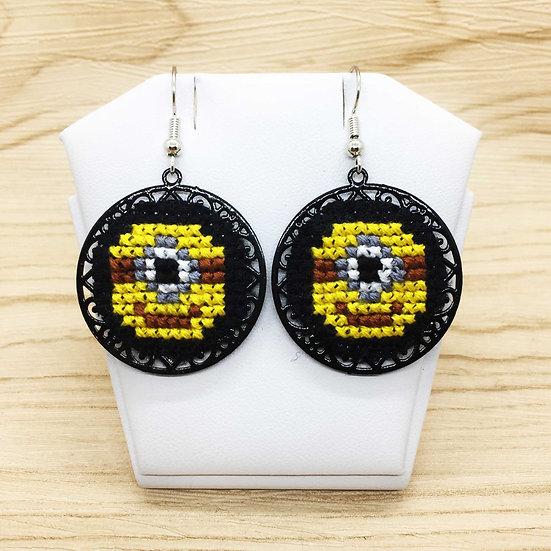 Minions Cross Stitch | Earrings