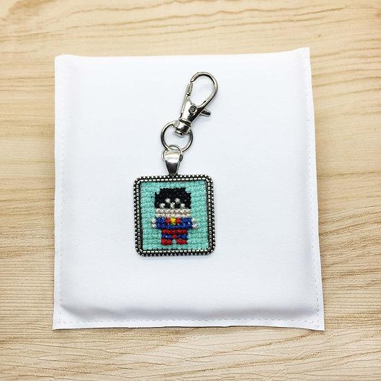 Superman Cross Stitch | Keyring
