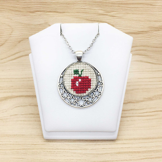 Apple Cross Stitch | Pendant
