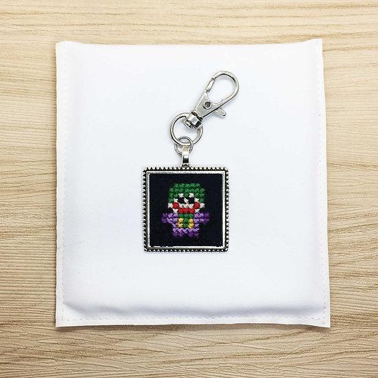 Joker Cross Stitch | Keyring