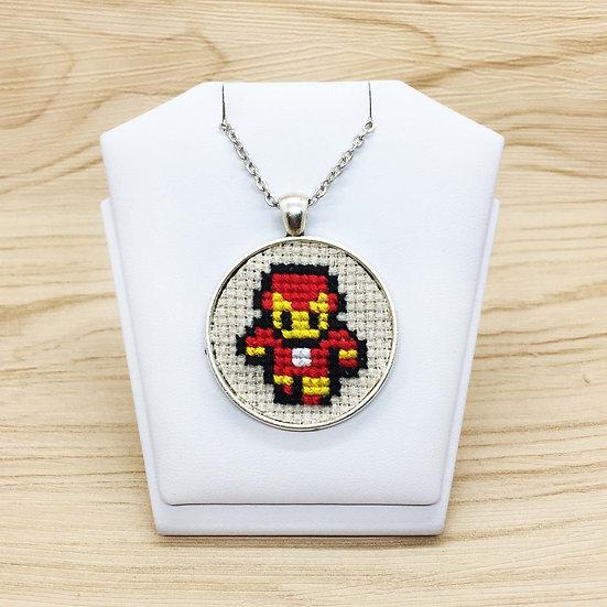 Iron Man Cross Stitch | Pendant