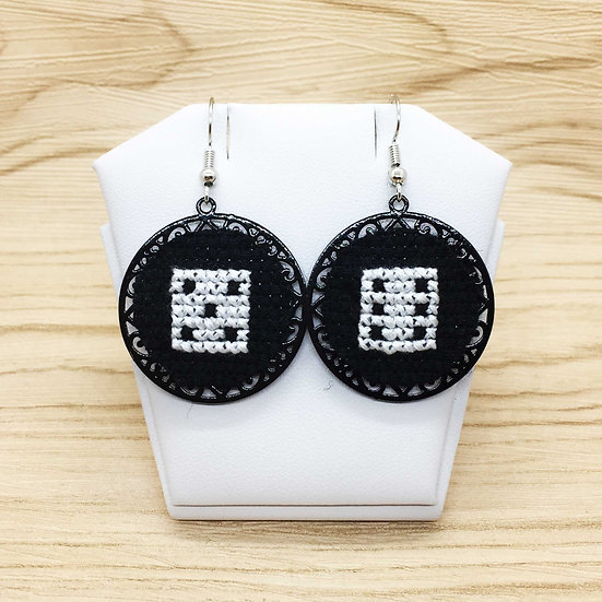 Dices Cross Stitch | Earrings