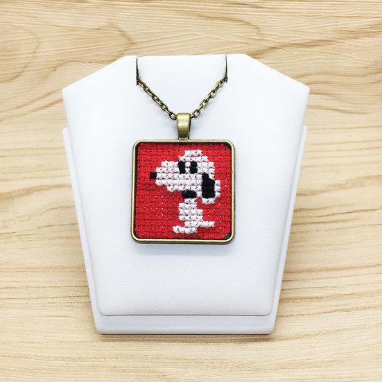 Snoopy Cross Stitch   Pendant
