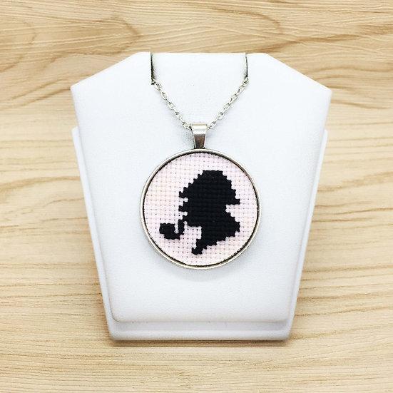 Sherlock Holmes Cross Stitch   Pendant