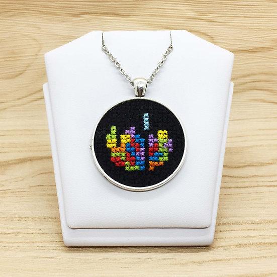 Tetris Cross Stitch   Pendant