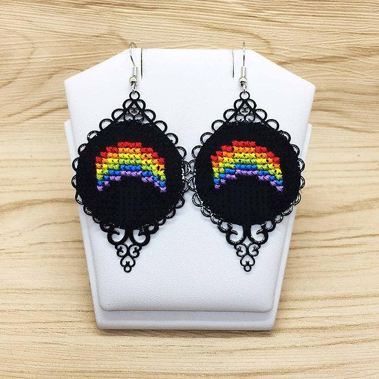 Rainbow Cross Stitch | Earrings