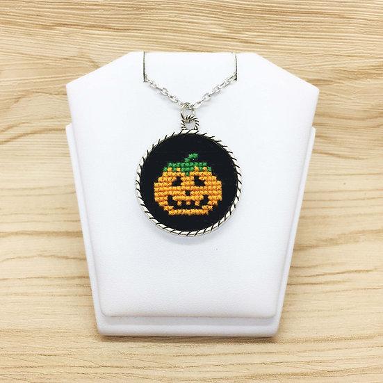 Pumpkin Cross Stitch | Pendant
