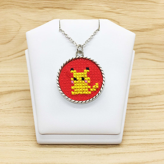 Pikachu Cross Stitch | Pendant