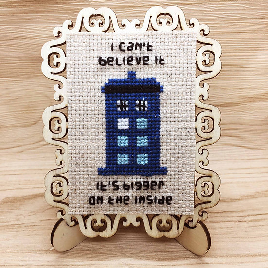 Tardis Cross Stitch | Home Decor