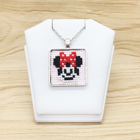 Mini Mouse Cross Stitch | Pendant
