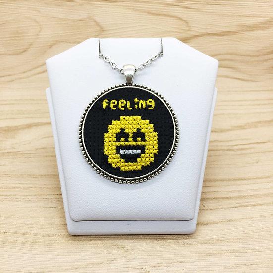 Smile Emoji Cross Stitch | Pendant