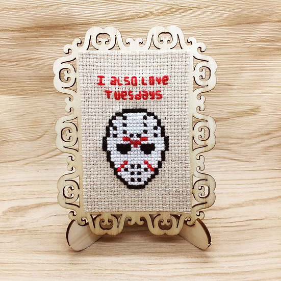 Jason Voorhees Cross Stitch | Home Decor