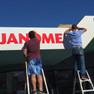 Installation of Janome signage