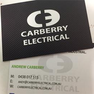 Carberry Electrical Business Cards