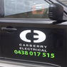 Carberry electrical car-signage