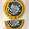 Zebbies football club signage and sticker design
