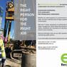 ES Safety logo and flyer design