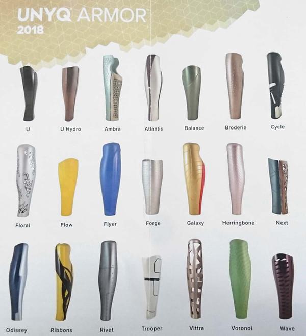Catalogo cover protesi Unyq Armor