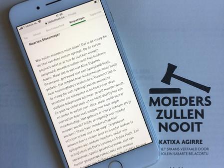 Maarten Steenmeijer over MOEDERS ZULLEN NOOIT van Katixa Agirre op NBD Biblion