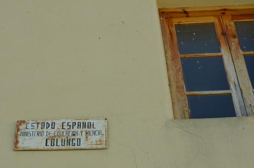 detalle antigua escuela de Colungo