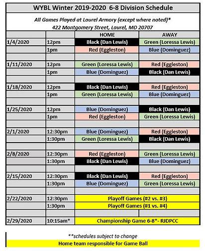 WYBL Winter 2019-20 6-8 Game Schedule.JP