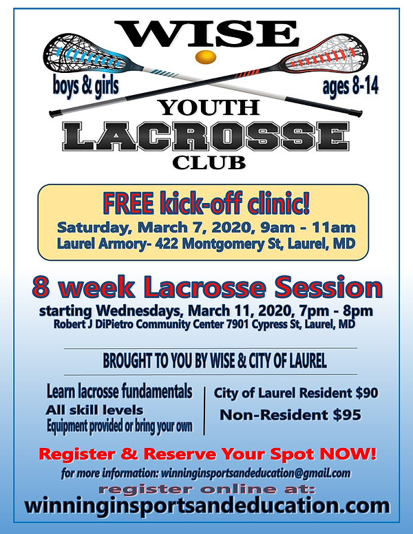 LAX Free Clinic- 8 week session 3.11.202