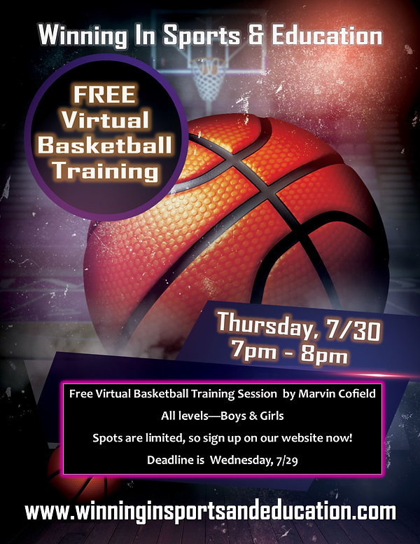 Virtual Basketball Training Session 7.30