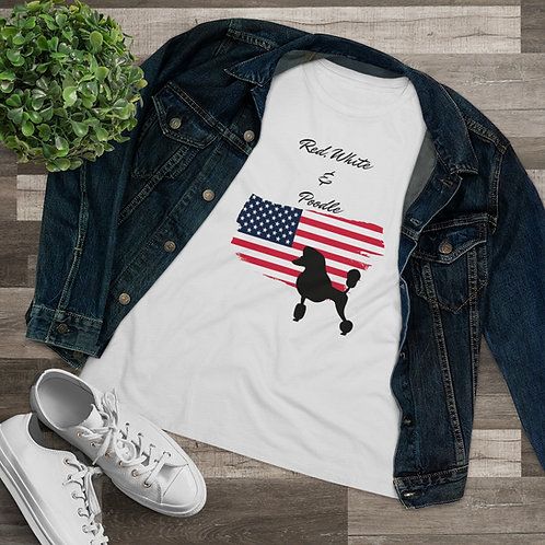 Red White & Poodle Tee