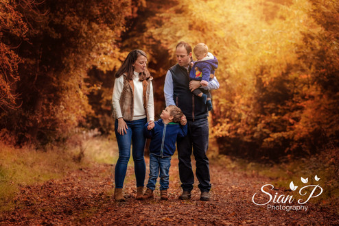 Candid Autumn Family Portrait
