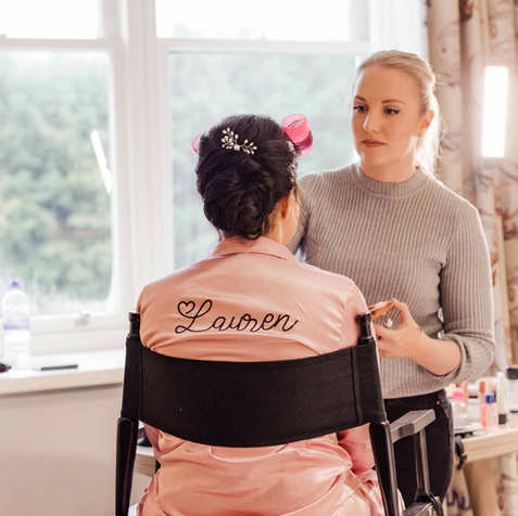Bridal preperations being held at Pentley Manor