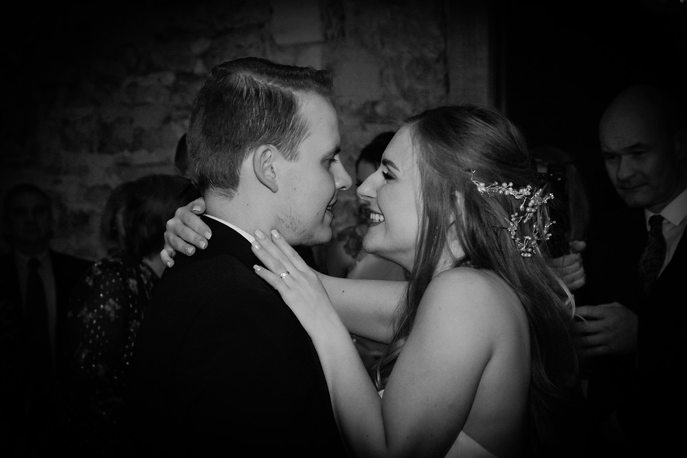 Newly Wed couple having their first dance together at Wedding Venue Notley Abbey in Buckinghamshire,Thame