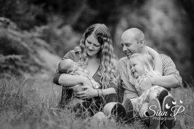 Family at Cowleaze Park Buckinghamshire