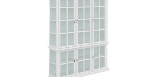 Somerset 6 Door White Display Cabinet
