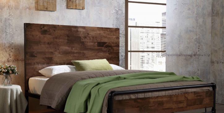 Alexander Industrial Queen Bed