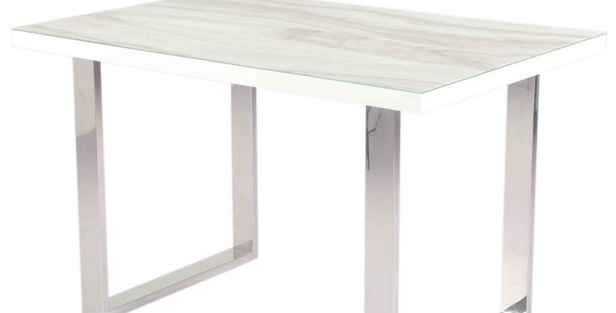 Luna Calacatta Marble Dining Table