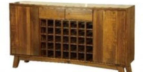 Eureka Mid-Century 2 Drawer 2 Door Wine Buffet