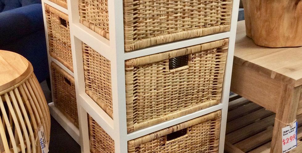 Cane 3 Baskets Unit