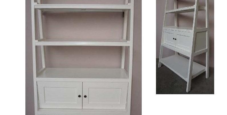 Ladder Bookcase W/2 Doors