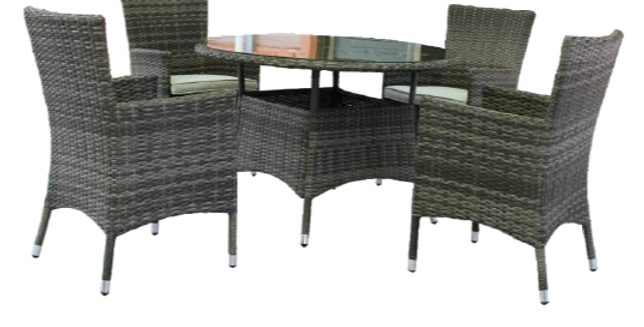Milford 5Pc Round Dining Setting