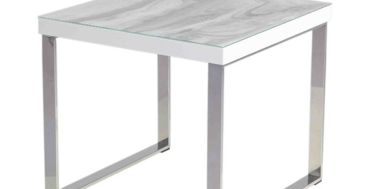 Luna Calacatta Marble Side Table