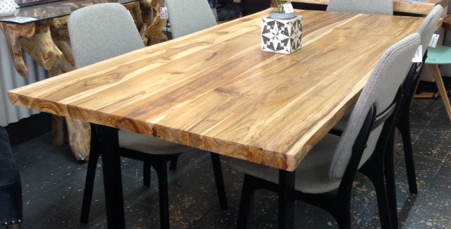 Teak Live Edge Table