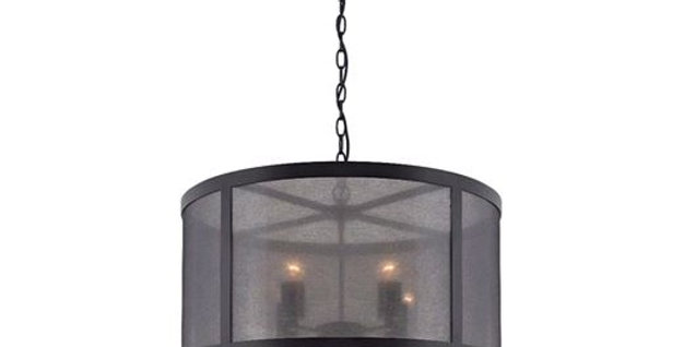 Arthur Black Steel 4 Light Pendant