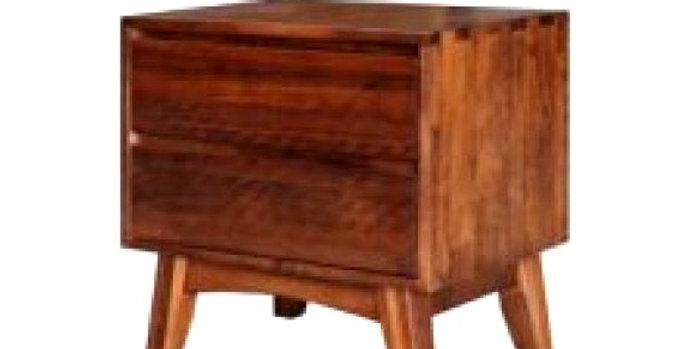 Eureka Mid-Century 2 Drawer Bedside Table