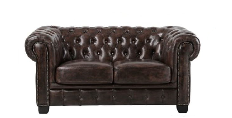 Chesterfield Leather 2 Seater