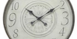Fleur Classic Metal Clock 80cm - Antique Ivory