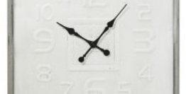Square Contemporary Metal Wall Clock 80cm - Antique ICream