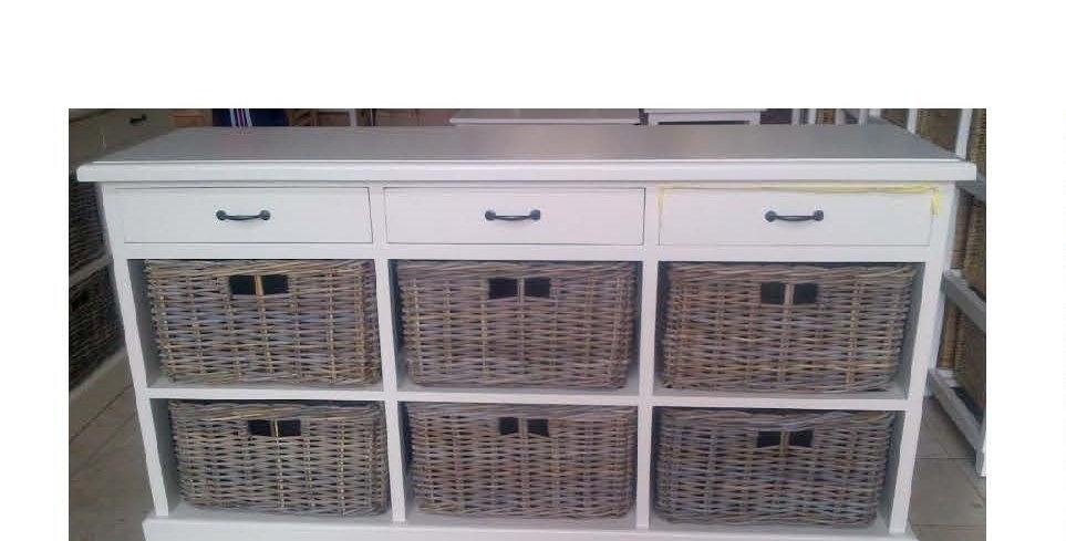 Kubu Storage 3 Drawers 6 Baskets