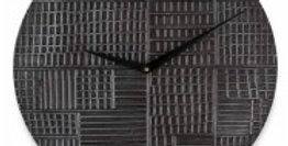 Aluminium Hammered Round Wall Clock